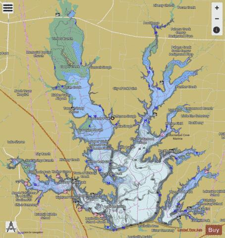 Lewisville Fishing Map I Boating App