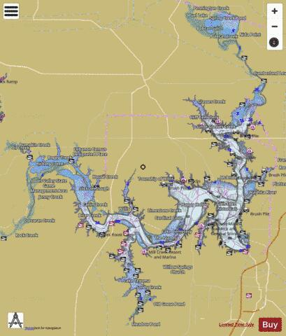 Texoma Fishing Map - i-Boating App