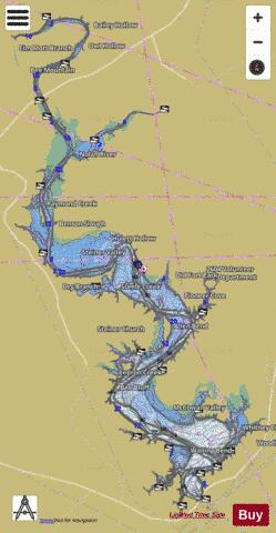 lake whitney texas map Whitney Fishing Map Us Tx Whitney Nautical Charts App lake whitney texas map