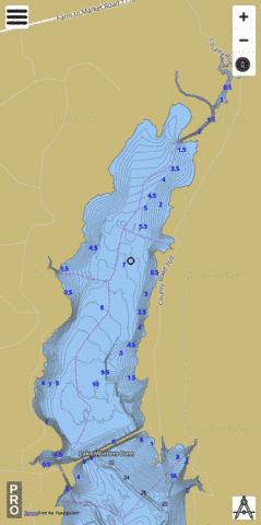 Lake Winters Fishing Map - i-Boating App