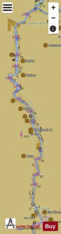 Atchafalaya River mile 0 to mile 46 Marine Chart - Nautical Charts App