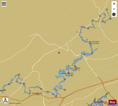 Clinch River mile 7 to mile 61.5 Marine Chart - Nautical Charts App