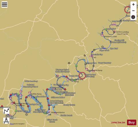 Cumberland River mile 307 to mile 381 Marine Chart USU37CR307