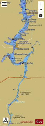 Tennessee River mile 85 to mile 133 Marine Chart - Nautical Charts App