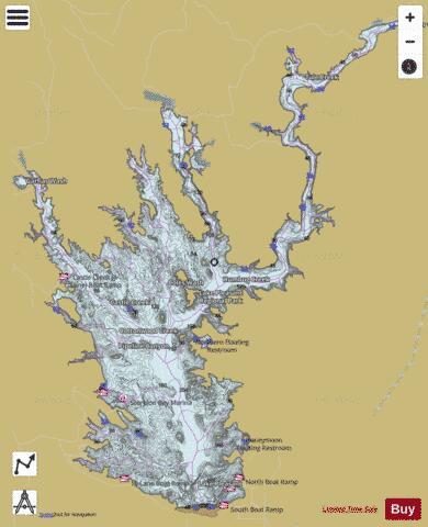 lake pleasant depth map Lake Pleasant Fishing Map Us Ub Az Lake Pleasant Nautical lake pleasant depth map