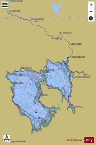 Clear Lake Reservoir Fishing Map - i-Boating App