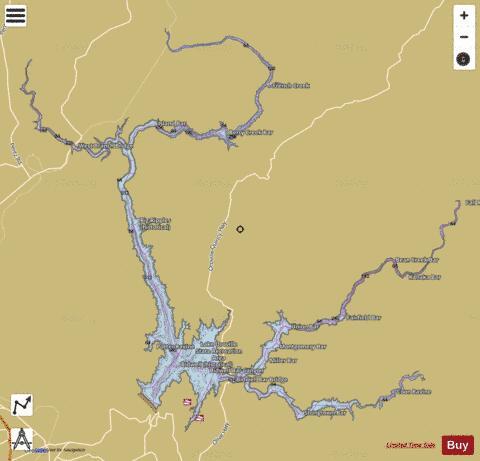 lake oroville camping map Lake Oroville Fishing Map Us Ub Ca 00264404 Nautical Charts App lake oroville camping map