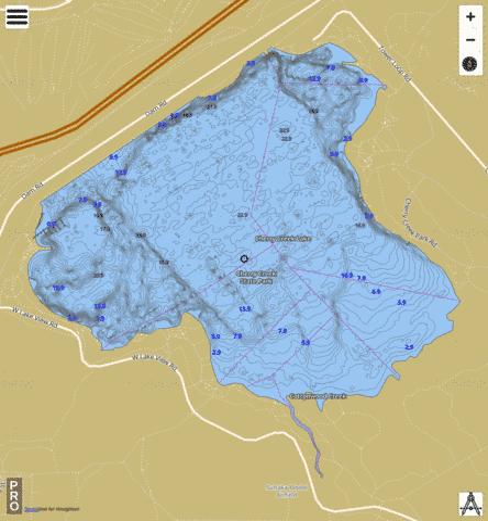 Cherry creek lake fishing map us ub co 00203038 for Standley lake fishing