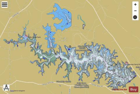Lake juliette fishing map us ub ga lake juliette for Lake tobesofkee fishing
