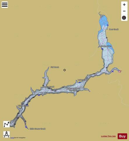 Anderson Ranch Reservoir Fishing Map USUBIDanderson