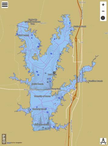 Rend Lake Illinois Map.Rend Lake Fishing Map Us Ub Il 00416524 Nautical Charts App