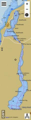 Lake leelanau north fishing map us ub mi 00630270 for Lake leelanau fishing