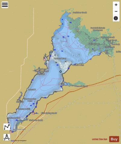 American Falls Reservoir (Fishing Map : US_UB_MS_00397376 ...
