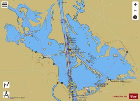 Columbus Lake Fishing Map Us Ub Ms 00690831 Nautical Charts App - Us-map-ms