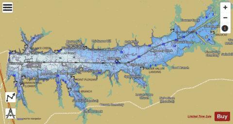 Enid Lake Fishing Map USUBMS00691643 Nautical Charts App