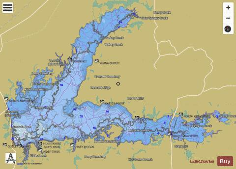 Grenada Lake Fishing Map USUBMS Nautical Charts App - Grenada atlas map
