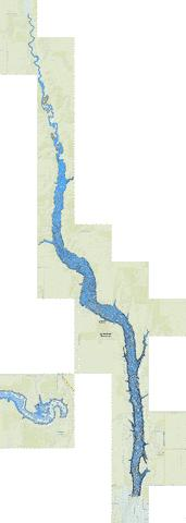 Jamestown Reservoir Fishing Map - i-Boating App