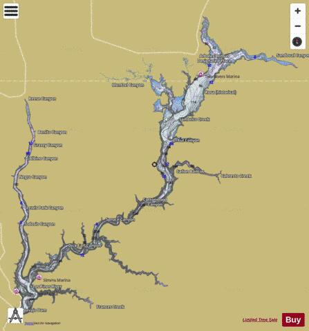 Navajo reservoir fishing map us ub nm 00938725 for Cochiti lake fishing