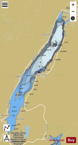 Greenwood Lake Fishing Map Us Ub Ny 00876818