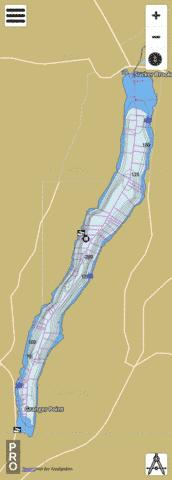 Canandaigua Lake Fishing Map - i-Boating App