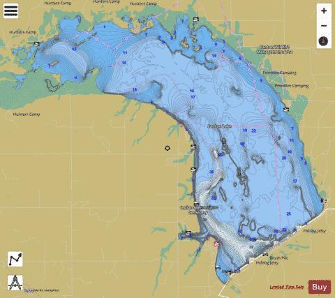 Canton Lake Fishing Map USUBOK Nautical Charts App - Oklahoma lake map