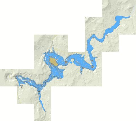 Prineville reservoir fishing map us ub or prineville for Prineville reservoir fishing