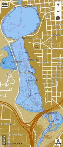 Capitol Lake Fishing Map - i-Boating App