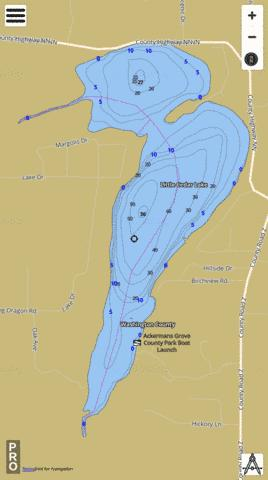 Little Cedar Lake Fishing Map - i-Boating App