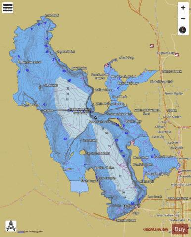 Great Salt Lake Fishing Map USUT Nautical Charts App - Map of the us including the great lakes