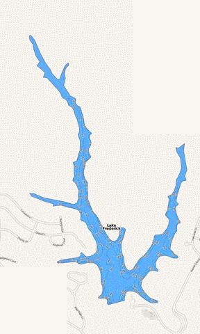Lake Frederick Fishing Map - i-Boating App