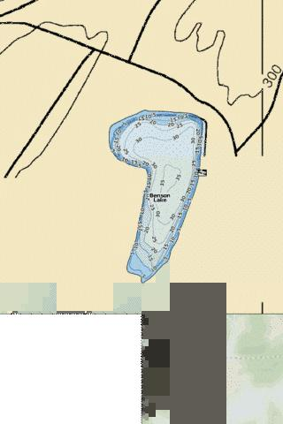 Benson Lake Fishing Map - i-Boating App