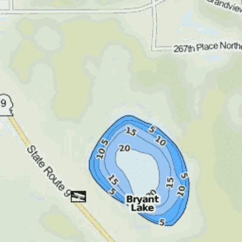 Bryant Lake Fishing Map - i-Boating App