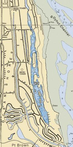 Duck Lake Fishing Map - i-Boating App