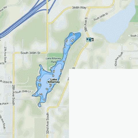 Lake Killarney Fishing Map - i-Boating App