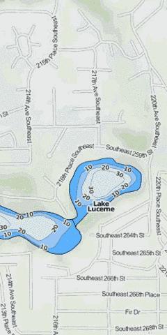 Lake lucerne fishing map us wa 01506368 nautical for Lake sammamish fishing