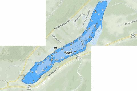 McIntosh Lake Fishing Map - i-Boating App