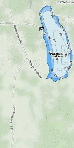 Panther Lake Fishing Map - i-Boating App