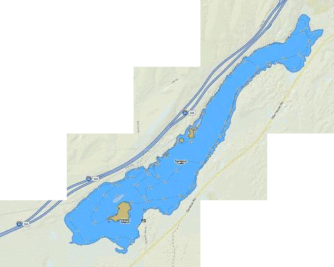 Sprague Lake Fishing Map - i-Boating App