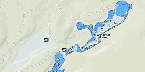 Windmill Lake Fishing Map - i-Boating App