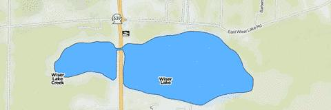 Wiser Lake Fishing Map - i-Boating App