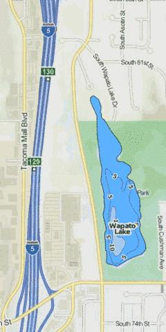 Little Wapato Lake Fishing Map - i-Boating App