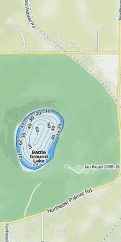 Battle Ground Lake Fishing Map - i-Boating App