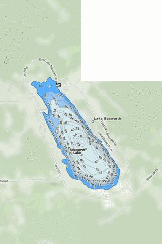 Bosworth Lake Fishing Map - i-Boating App