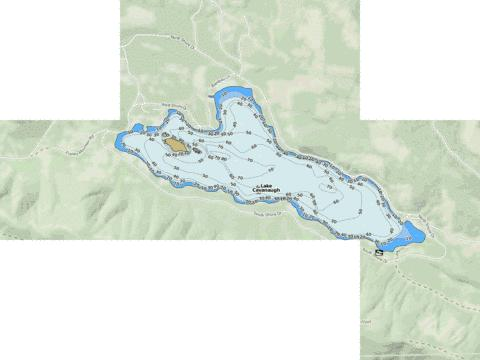 Lake Cavanaugh Fishing Map - i-Boating App