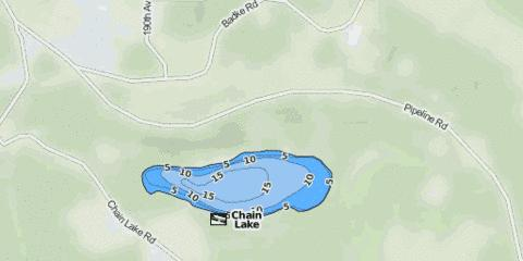 Chain Lake Fishing Map - i-Boating App