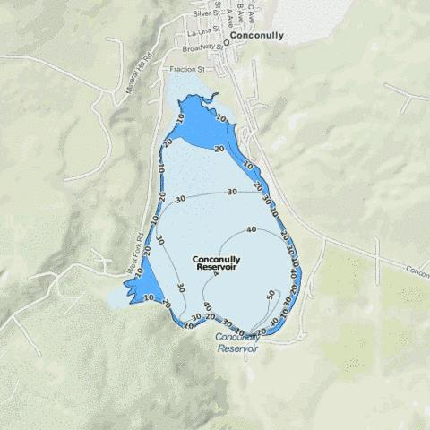 Conconully Reservoir Fishing Map - i-Boating App