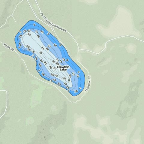 Crawfish Lake Fishing Map - i-Boating App