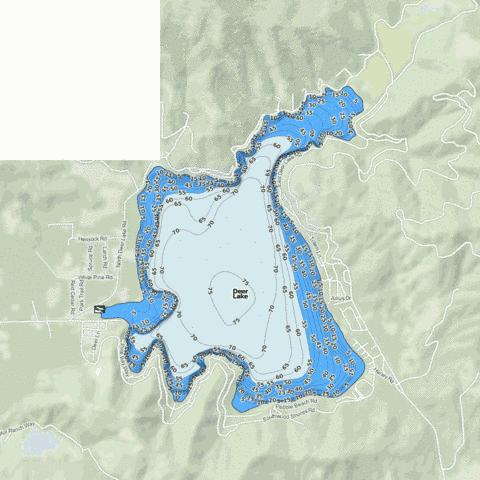 Deer Lake Fishing Map - i-Boating App
