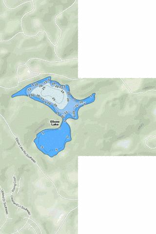 Elbow Lake Fishing Map - i-Boating App
