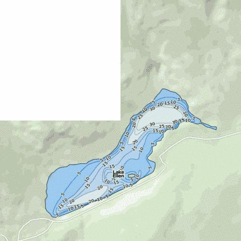 Lake Ellen Fishing Map - i-Boating App
